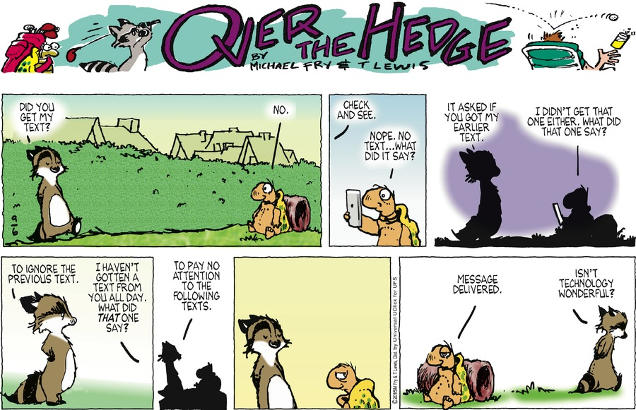 Over the Hedge for Sep 6, 2015 Comic Strip