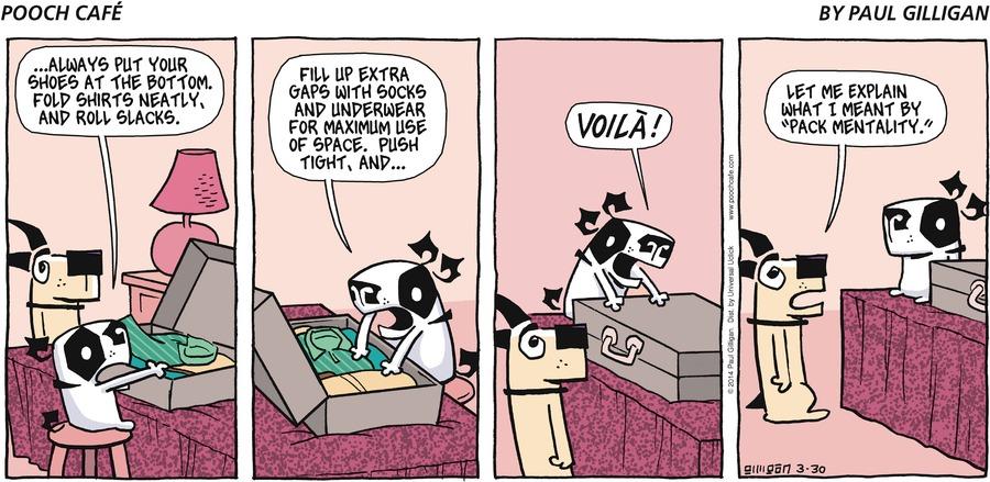 Pooch Cafe for Mar 30, 2014 Comic Strip