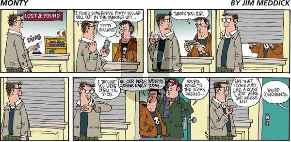 Monty on Sunday April 9, 2017 Comic Strip