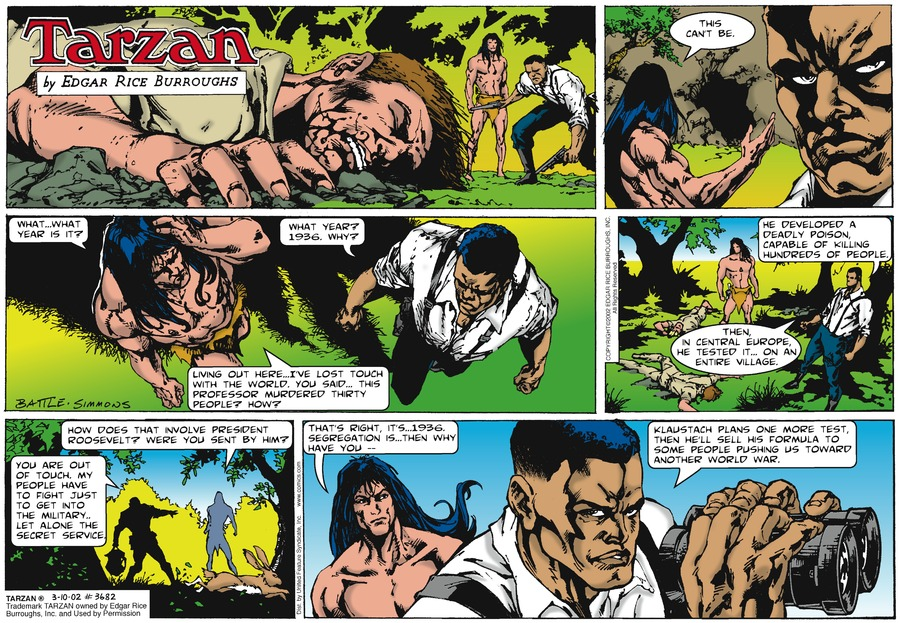 Tarzan Comic Strip for March 10, 2002