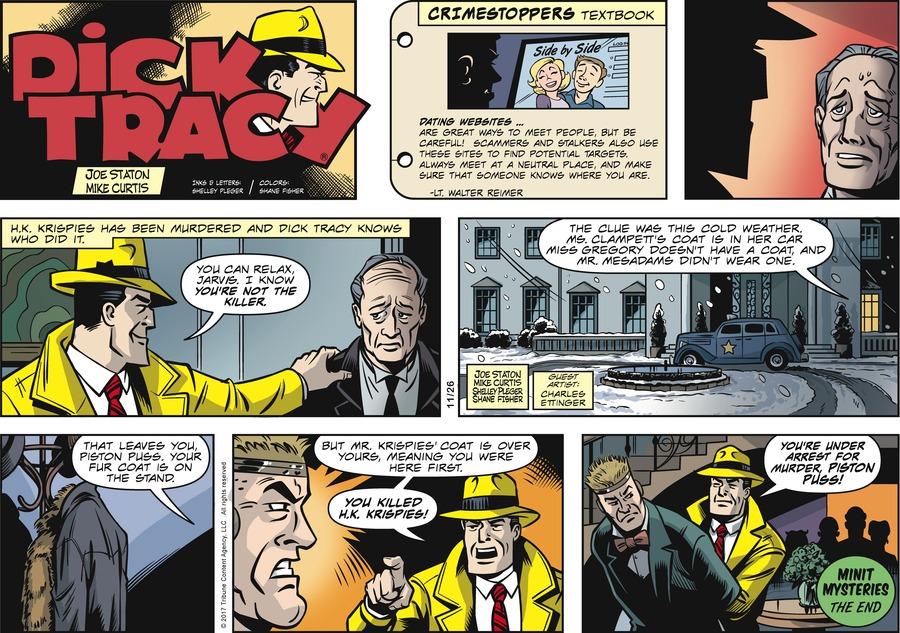Dick Tracy Comic Strip for November 26, 2017