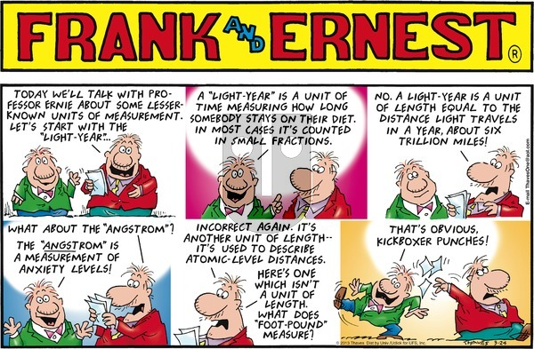 Frank and Ernest on Sunday March 24, 2013 Comic Strip