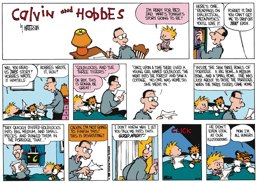 Calvin and Hobbes Comic Strip for December 07, 1986