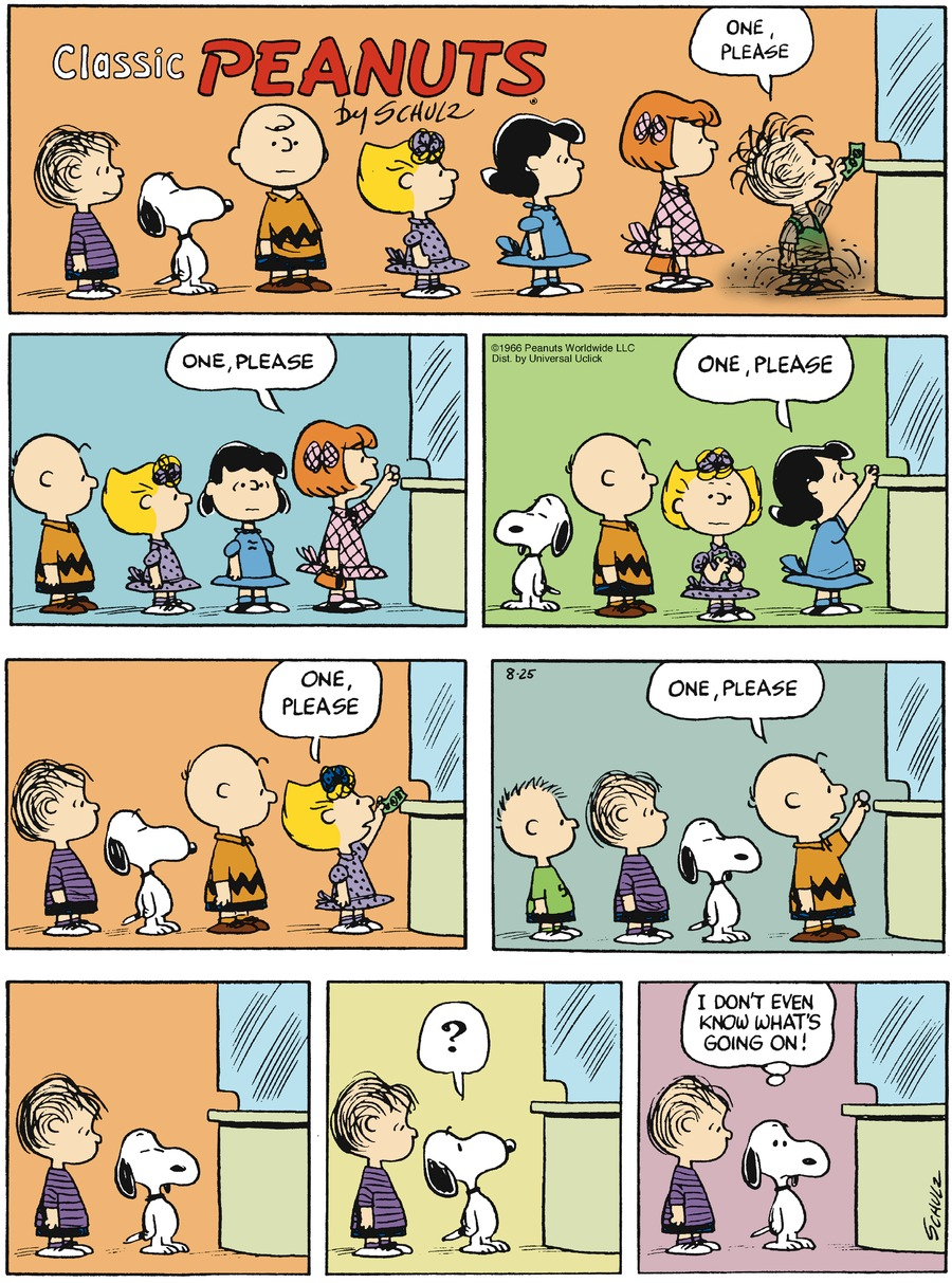 Peanuts Comic Strip for August 25, 2013