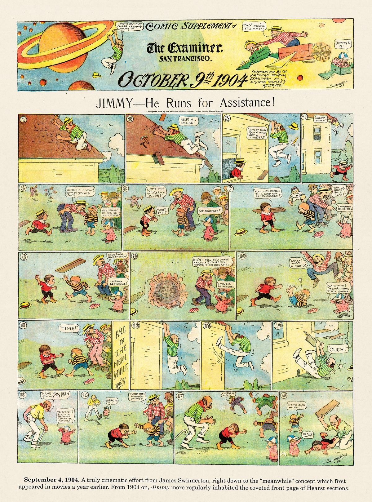 Origins of the Sunday Comics Comic Strip for July 20, 2014