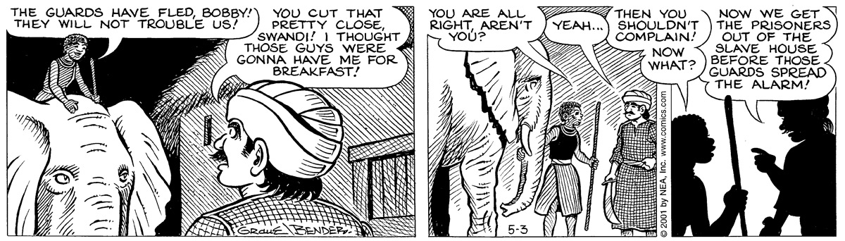 Alley Oop for May 3, 2001 Comic Strip