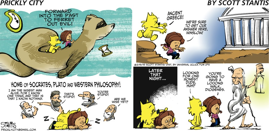 Prickly City Comic Strip for February 15, 2015