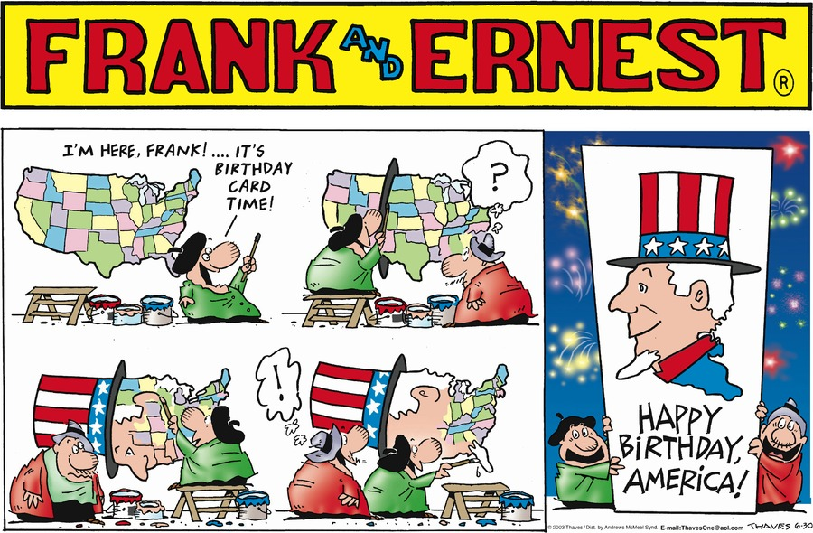 Frank and Ernest Comic Strip for June 30, 2019
