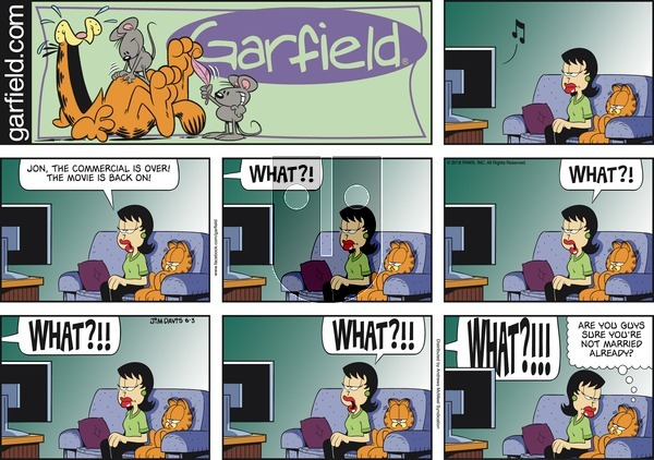Garfield on Sunday June 3, 2018 Comic Strip