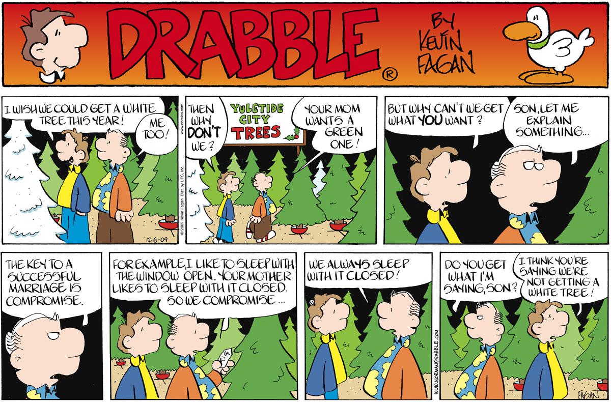 Drabble for Dec 6, 2009 Comic Strip