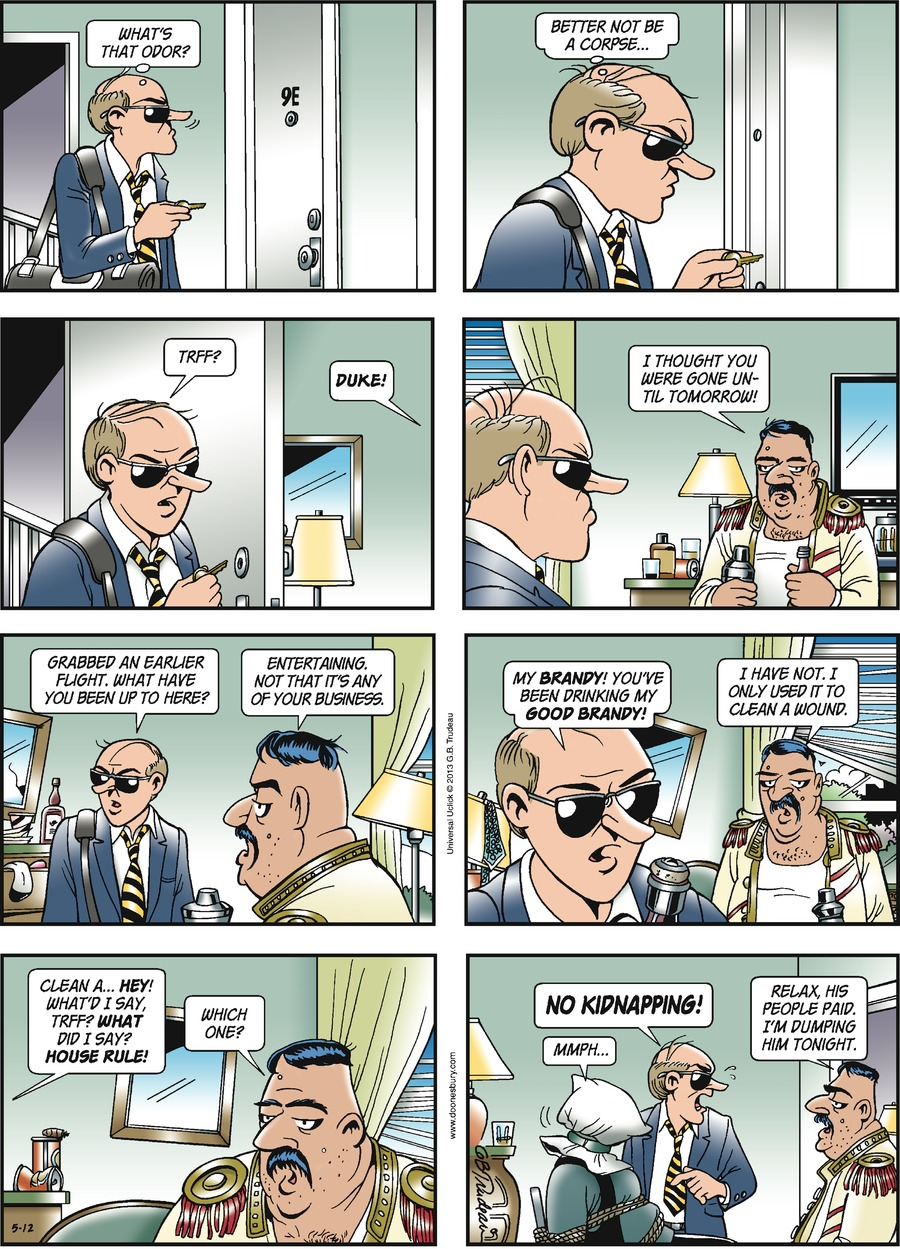 Doonesbury for May 12, 2013 Comic Strip