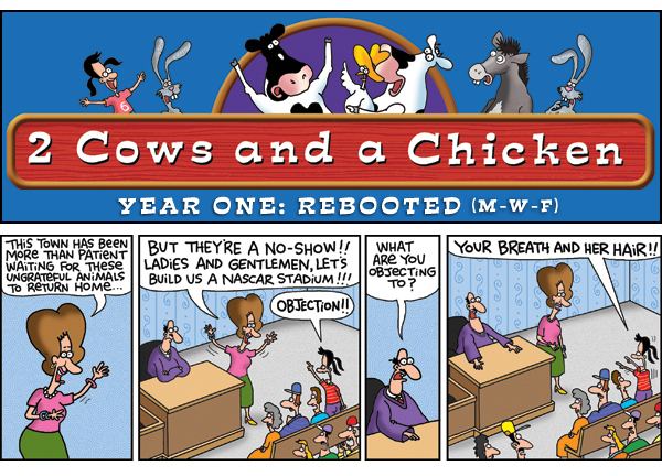2 Cows and a Chicken for Jun 28, 2013 Comic Strip