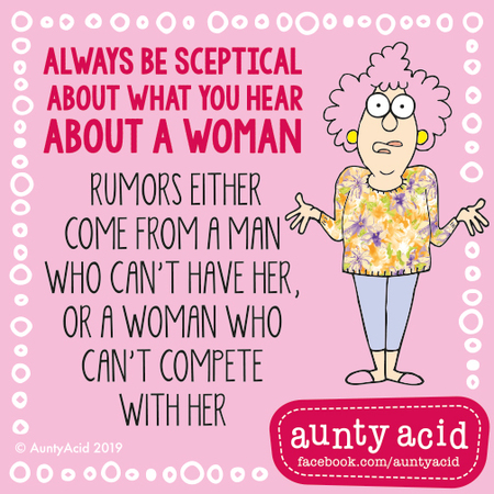 Aunty Acid by Ged Backland for March 04, 2019