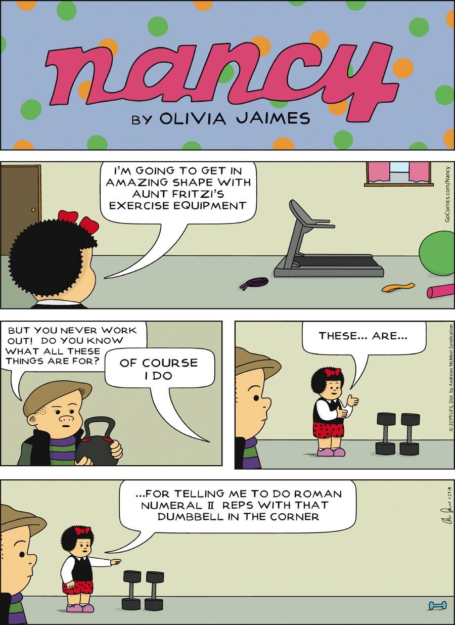 Nancy Comic Strip for January 27, 2019