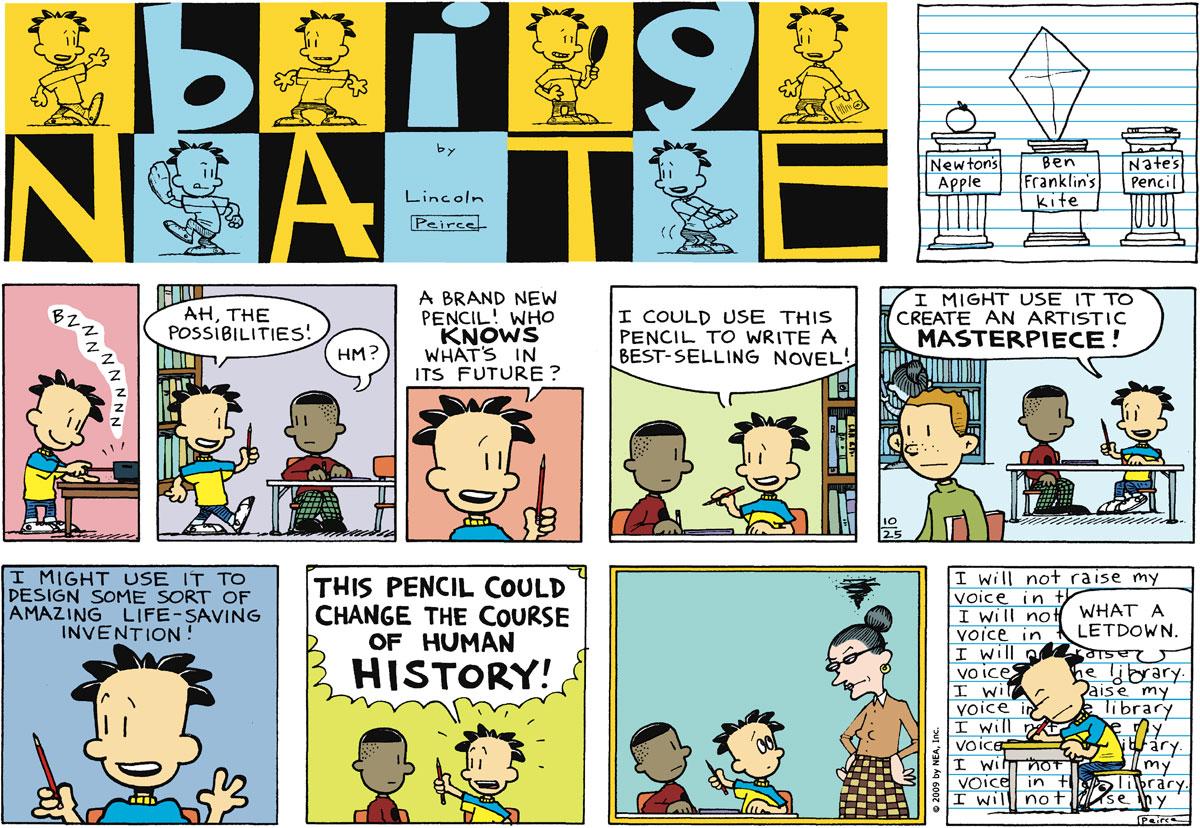 Big Nate Comic Strip for October 25, 2009
