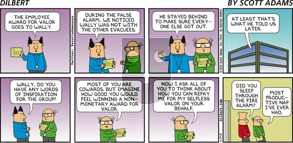 Dilbert on Sunday April 29, 2018 Comic Strip
