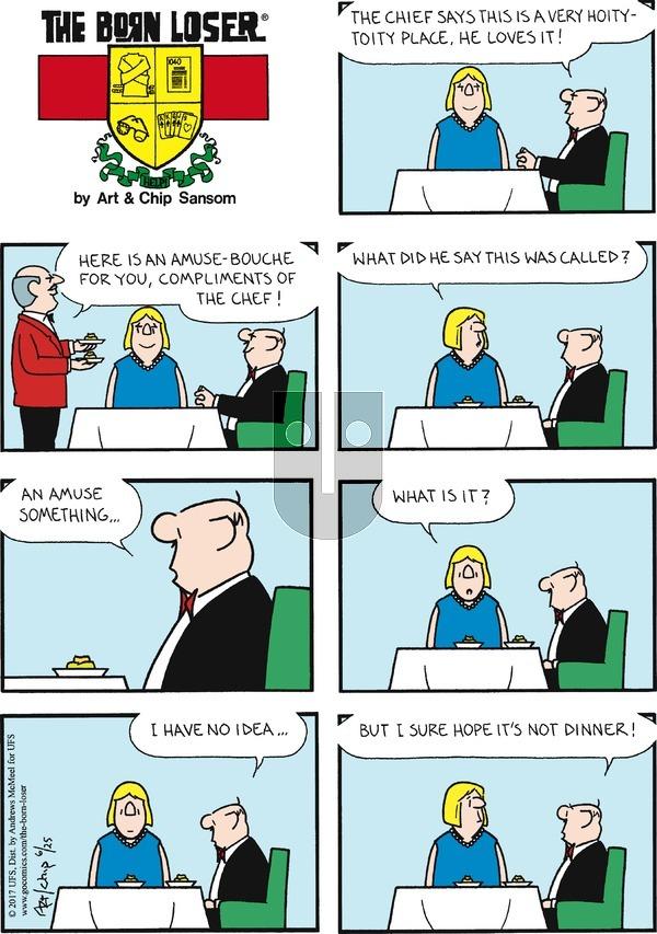 The Born Loser on Sunday June 25, 2017 Comic Strip
