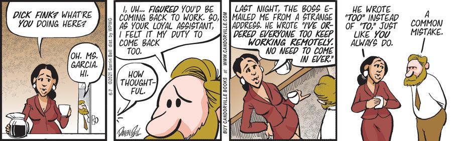 Candorville Comic Strip for June 07, 2021
