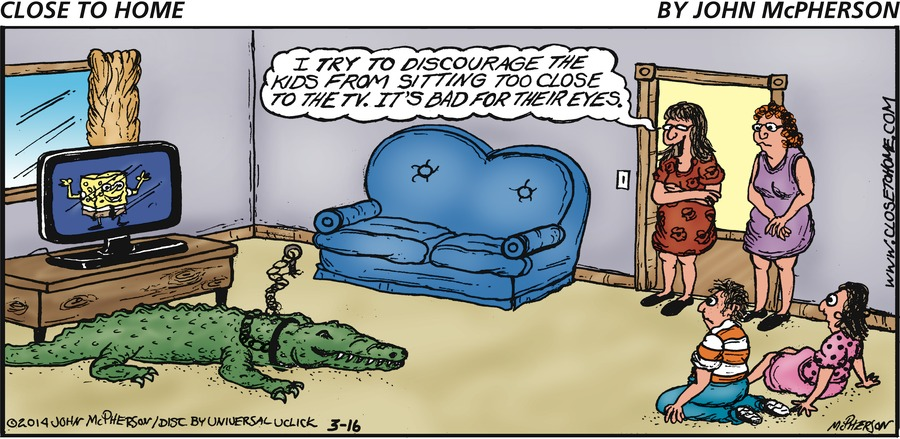Close to Home for Mar 16, 2014 Comic Strip