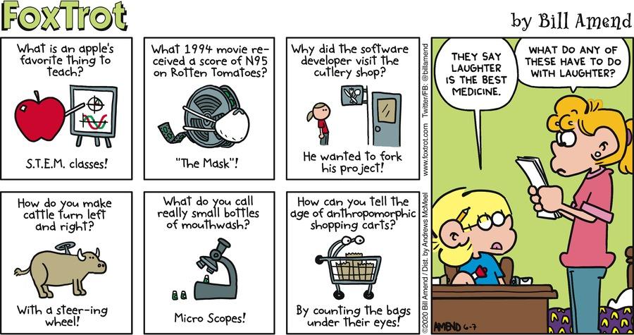 FoxTrot Comic Strip for June 07, 2020