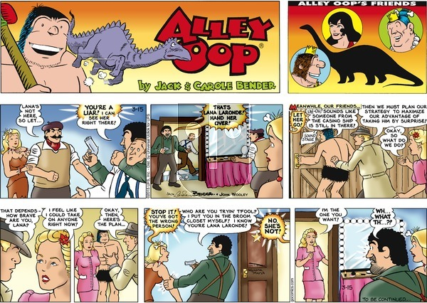 Alley Oop on Sunday March 15, 2015 Comic Strip