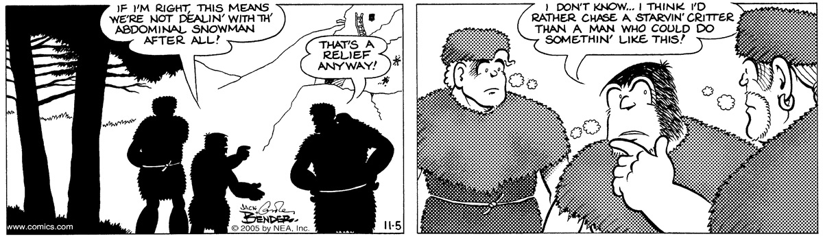 Alley Oop for Nov 5, 2005 Comic Strip