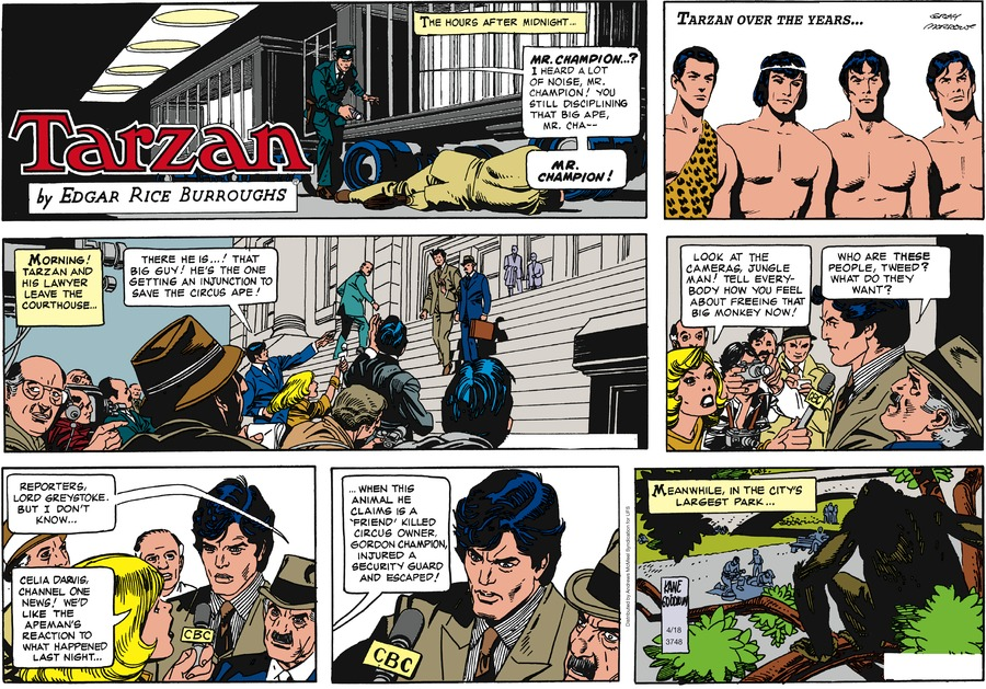Tarzan Comic Strip for April 18, 2021