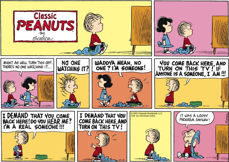Peanuts for Nov 11, 2012 Comic Strip