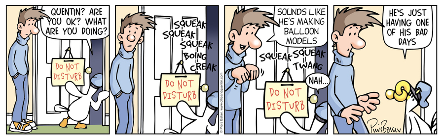 Ollie and Quentin Comic Strip for April 07, 2016