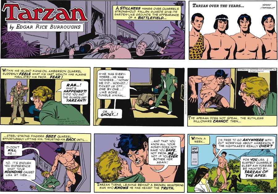 Tarzan Comic Strip for November 01, 2020