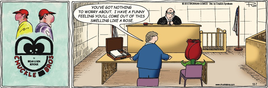 Chuckle Bros Comic Strip for October 07, 2012
