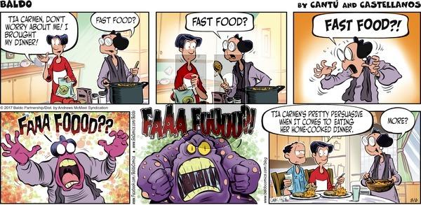 Baldo on Sunday August 6, 2017 Comic Strip