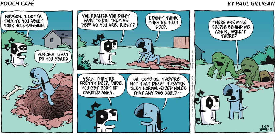 Pooch Cafe Comic Strip for May 29, 2016