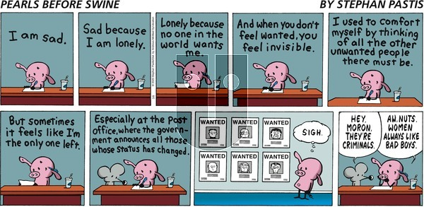 Pearls Before Swine on Sunday March 8, 2020 Comic Strip