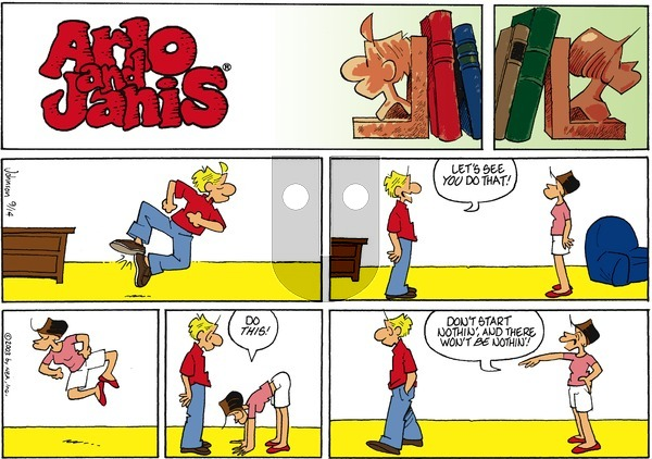 Arlo and Janis on Sunday September 14, 2003 Comic Strip