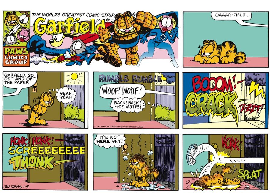 Garfield Comic Strip for January 05, 1997