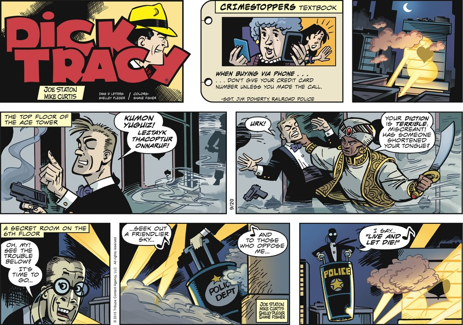 Dick Tracy Comic Strip for September 20, 2015