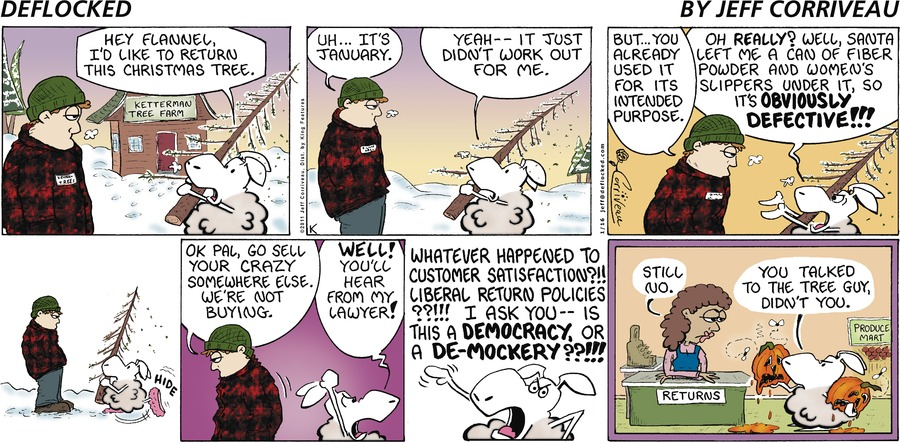 DeFlocked Comic Strip for January 16, 2011