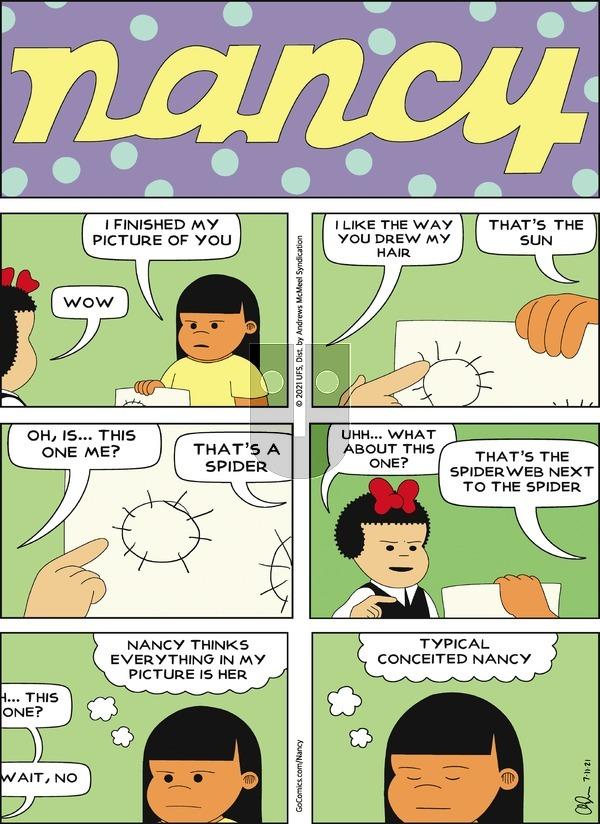 Nancy on Sunday July 11, 2021 Comic Strip