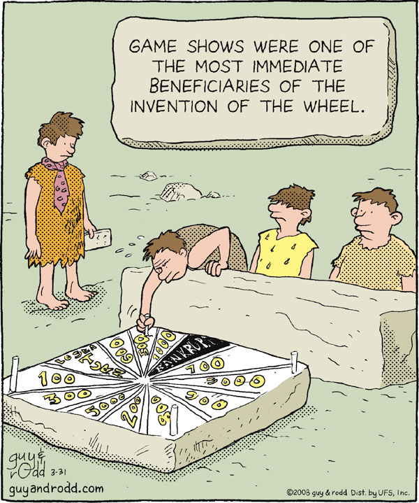 Game shows were one of the most immediate beneficiaries of the invention of the wheel. 100 300 3000 200