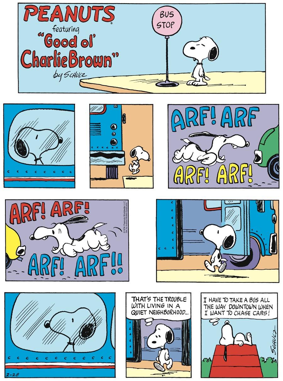 Peanuts Comic Strip for February 28, 2021