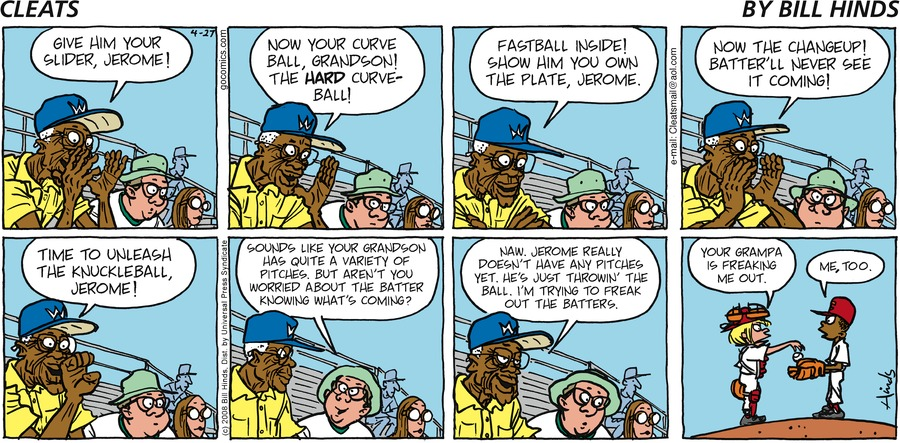 Cleats for Apr 27, 2008 Comic Strip