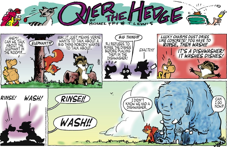 Over the Hedge Comic Strip for August 11, 2019