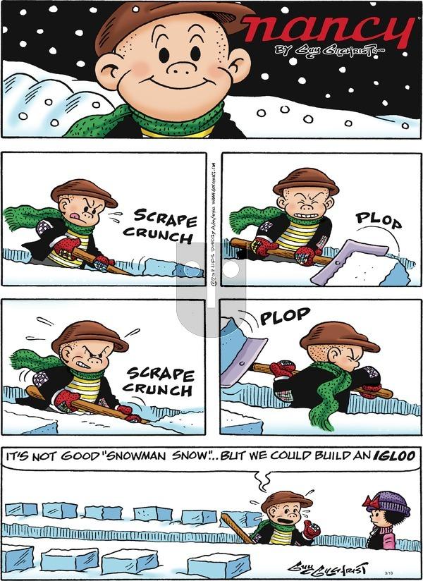 Nancy on Sunday March 18, 2018 Comic Strip
