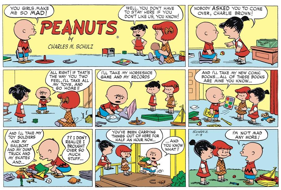 Peanuts Begins Comic Strip for November 09, 1952