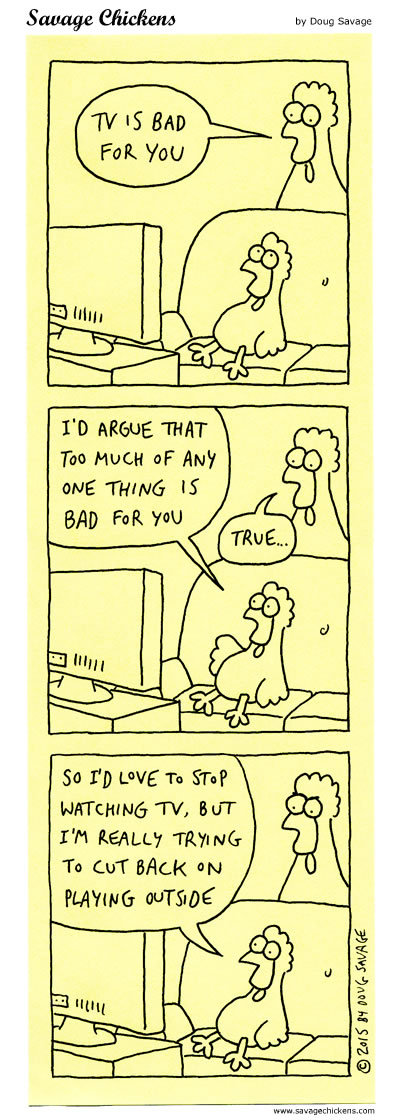 Savage Chickens Comic Strip for August 21, 2019