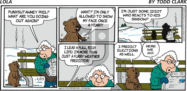 Lola on Sunday February 23, 2020 Comic Strip