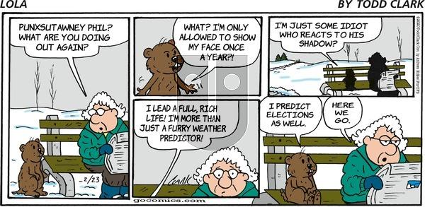 Lola - Sunday February 23, 2020 Comic Strip