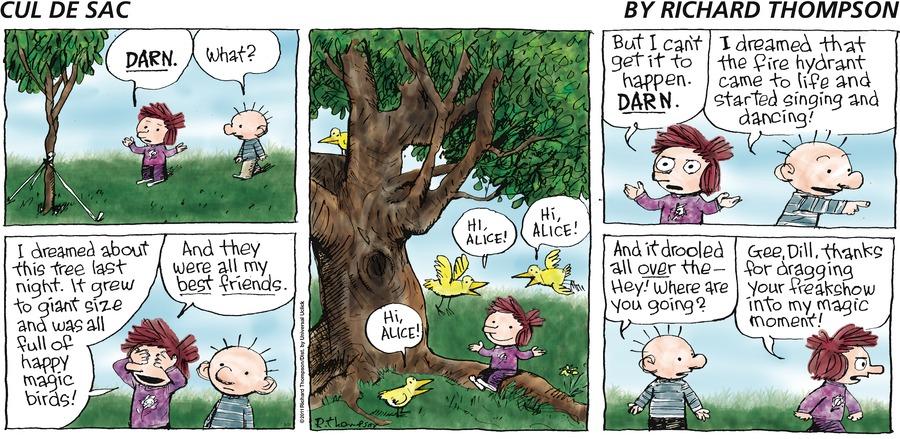 Cul de Sac for May 22, 2011 Comic Strip