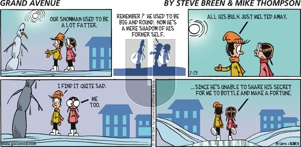 Grand Avenue on Sunday February 23, 2014 Comic Strip